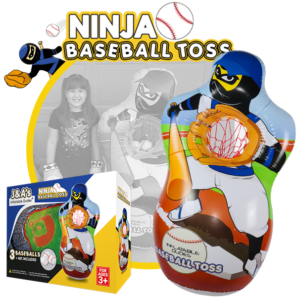 Kids Punching Bags - Ninja Baseball toss