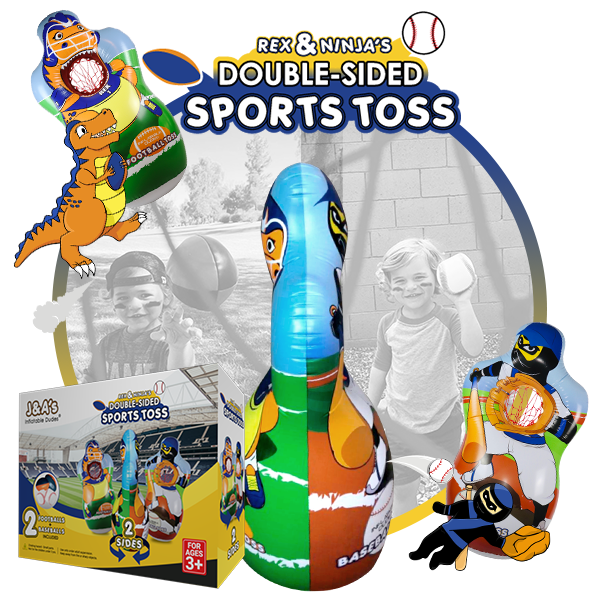 Kids Punching Bags - Double sided sports toss