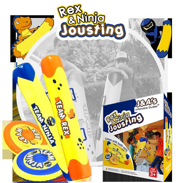 Kids Punching Bags - Rex Ninja Jousting